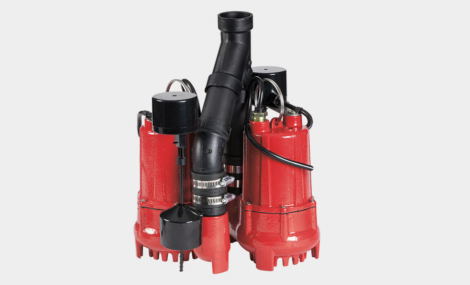 1 3 Hp Dual Cast Iron Sump Pump System Red Lion